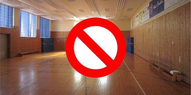 Einstellung Sportbetrieb und Hallenschließung